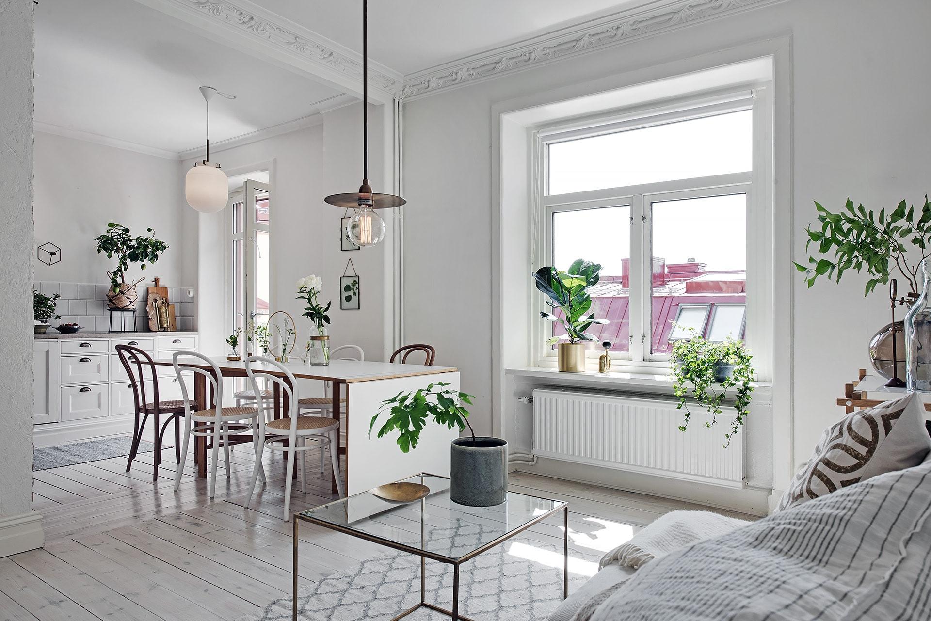 Witte Zweedse Woonkamer : Shop the look witte woonkamer met natuurlijke tinten alles om
