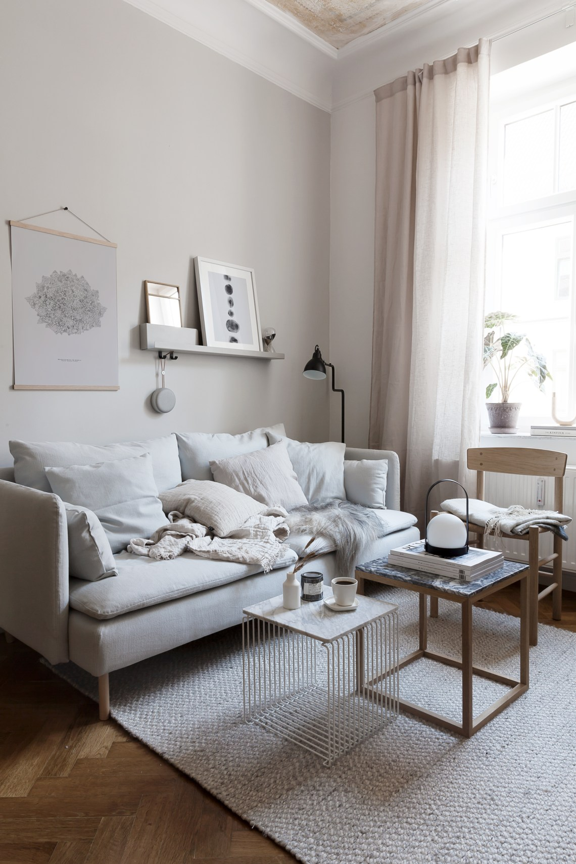 Living room transformation with Bemz