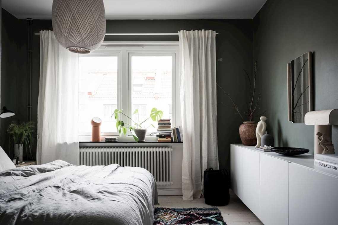 Cozy green bedroom
