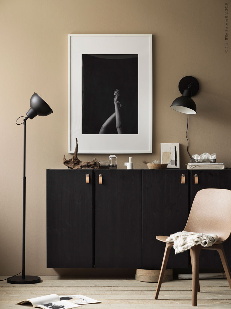 Ikea Ivar painted black