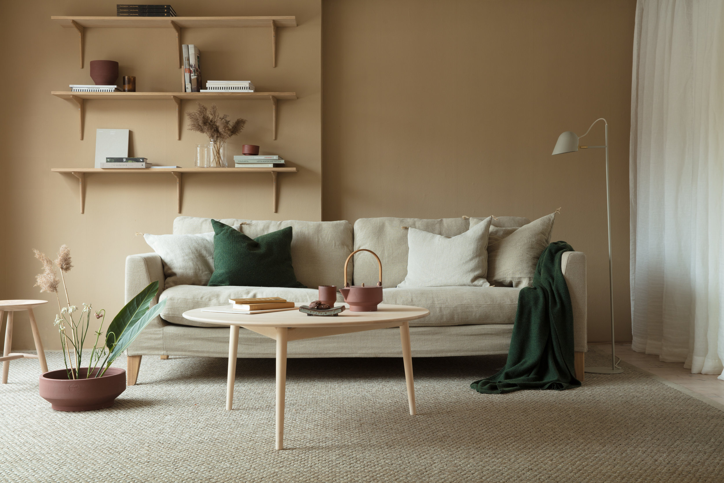 This Beautiful Living Room Setup In Natural Tints Is Styled By Fanny Lovisa  Skoglund For Norrgavel. The Tone On Tone Beige Living Room Is The Perfect  Canvas ...