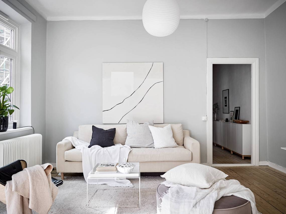 A home in beige and grey