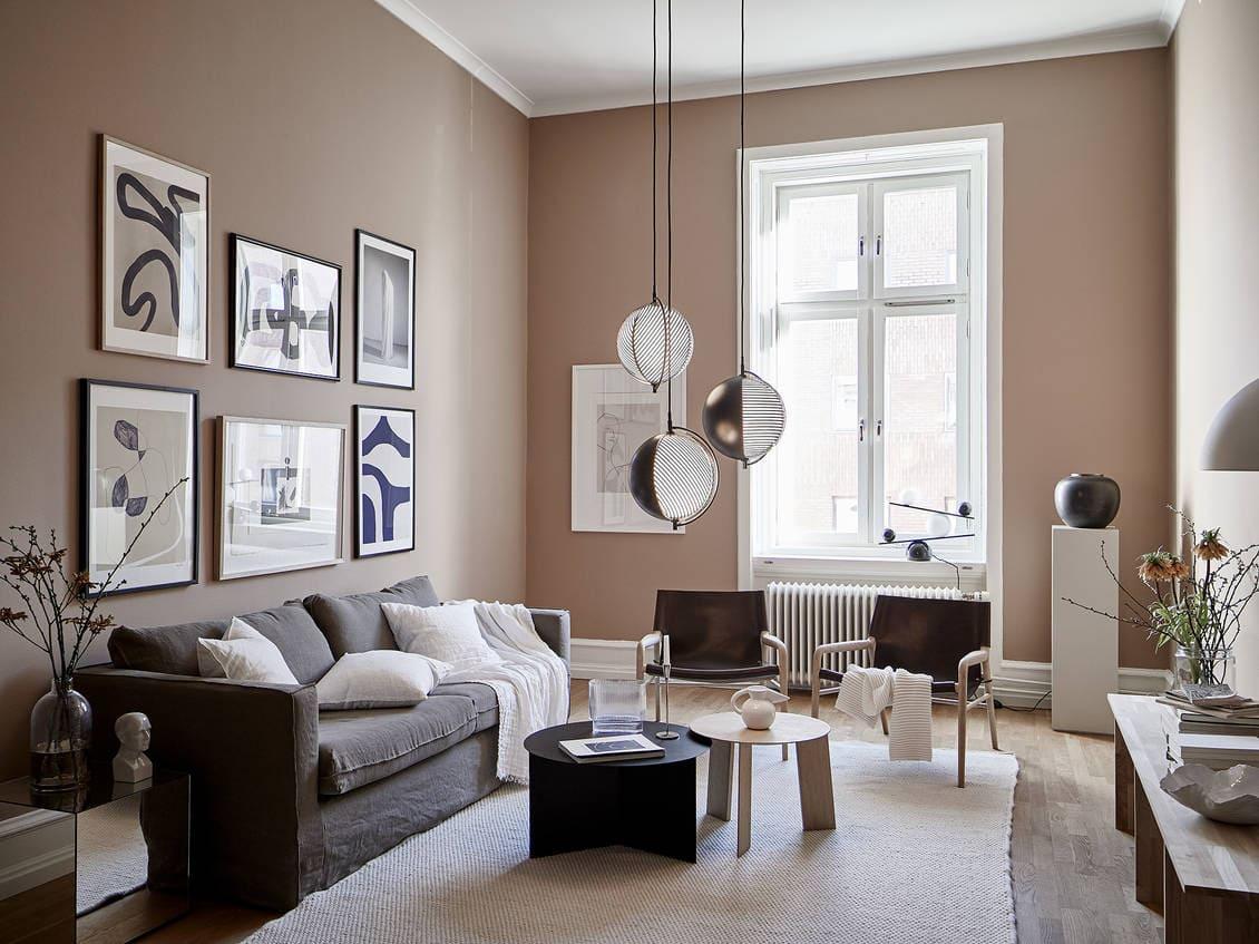 Beautiful nude pink living room