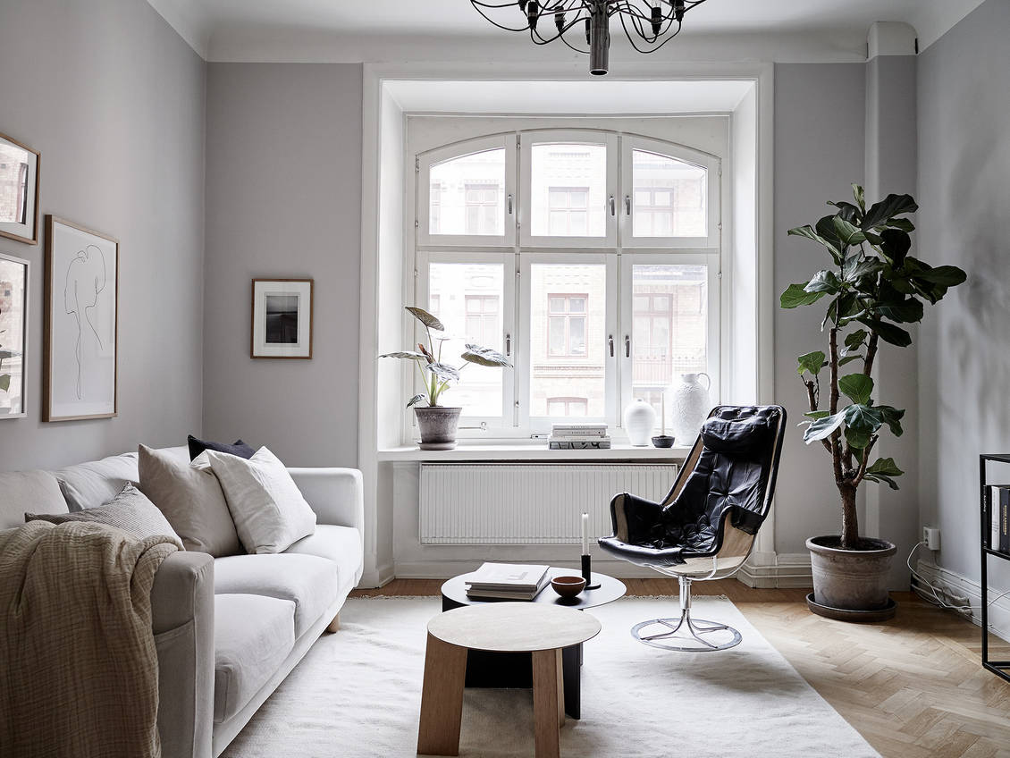 A serene home in grey and beige