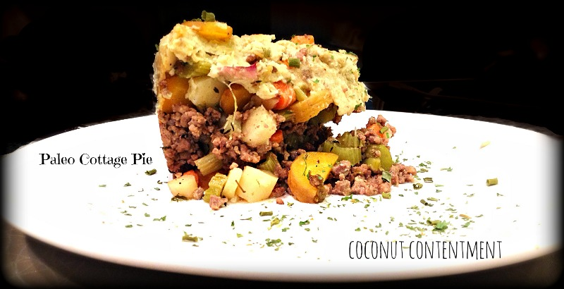 Paleo Cottage Pie by Coconut Contentment: simple and delicious! Filled with grass-fed beef and veggies and topped with Japanese sweet potatoes