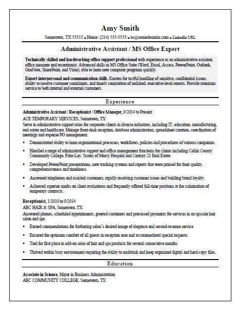 example resumes for contract jobs