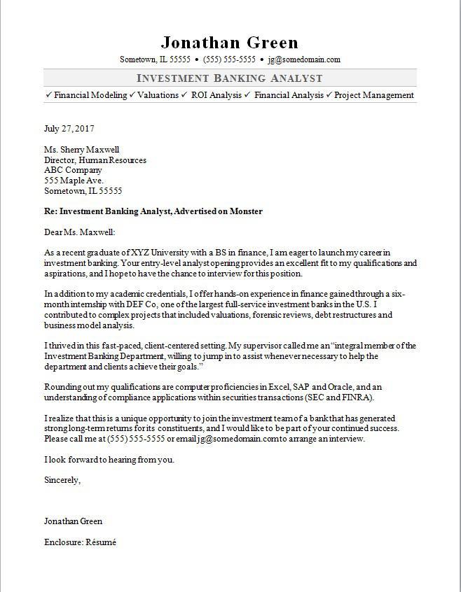 wealth management cover letter