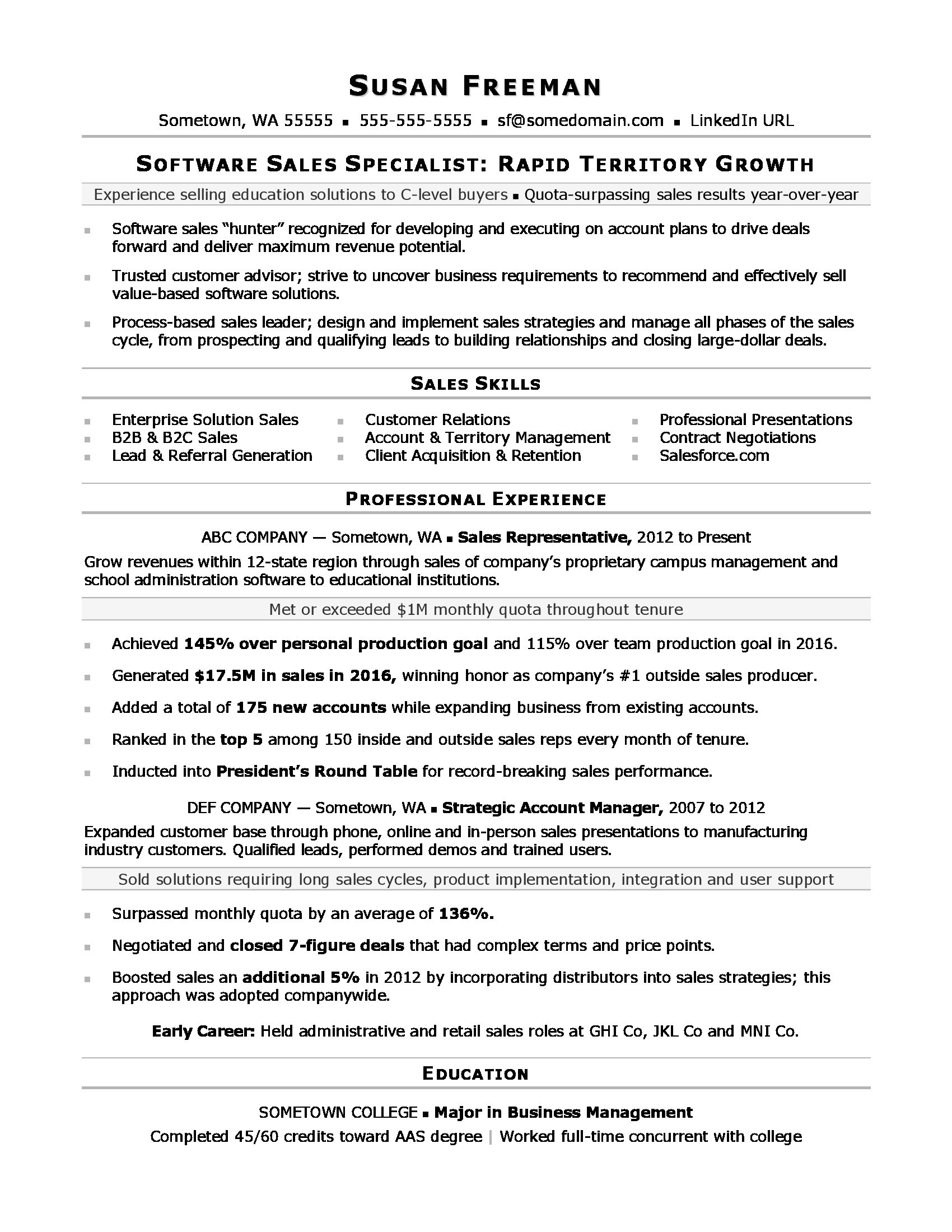 sales associate resume template
