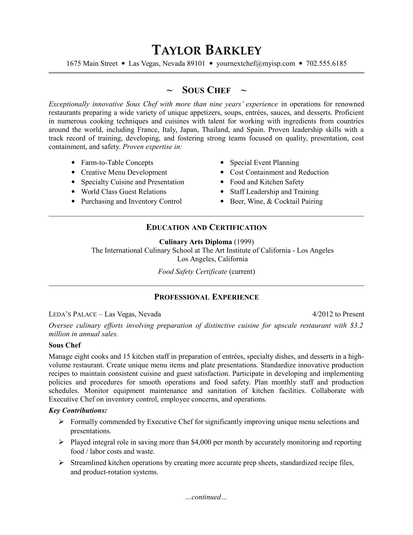 template resume espanol