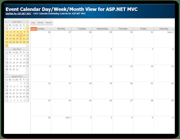 vb.net calendar controls