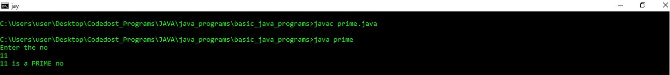 23 Java Design Patterns Java Program To Check Whether A Given Number Is Prime Or