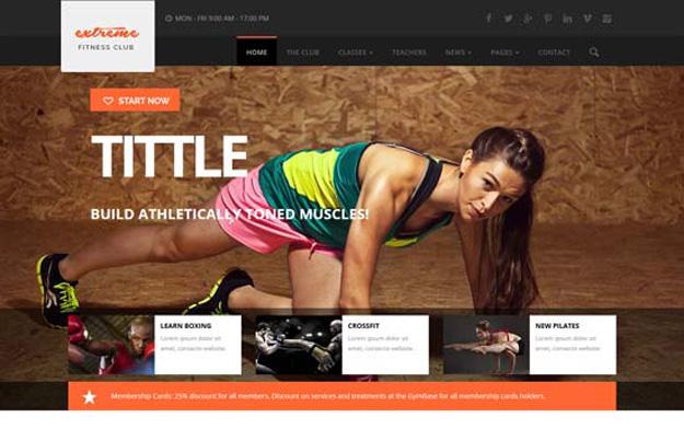 20 Fitness Gym Website Templates for 2016 Code Geekz