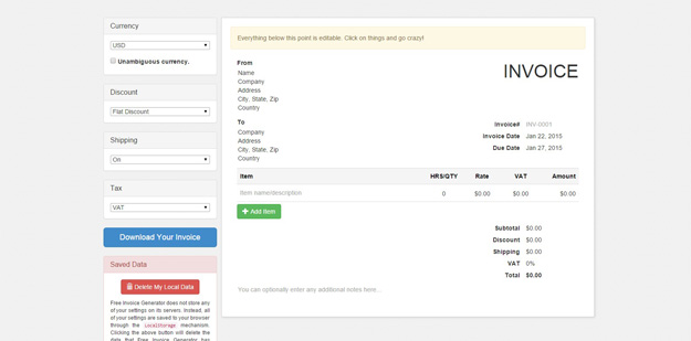 15 Free  Extremely Useful Invoice Generators Code Geekz - Free Invoices Com