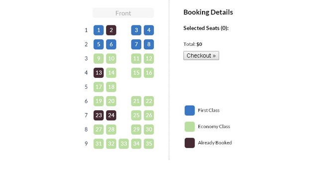 jquery seat chart