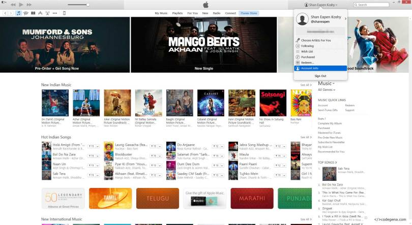 View your itunes purchase history or app store purchase history from iTunes