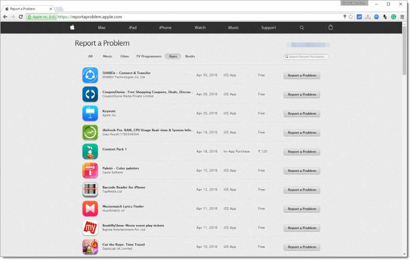 View your app store purchase history from iphone without itunes software.