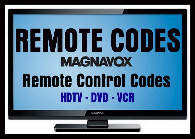 Remote Control Codes For Magnavox TVs Codes For Universal Remotes