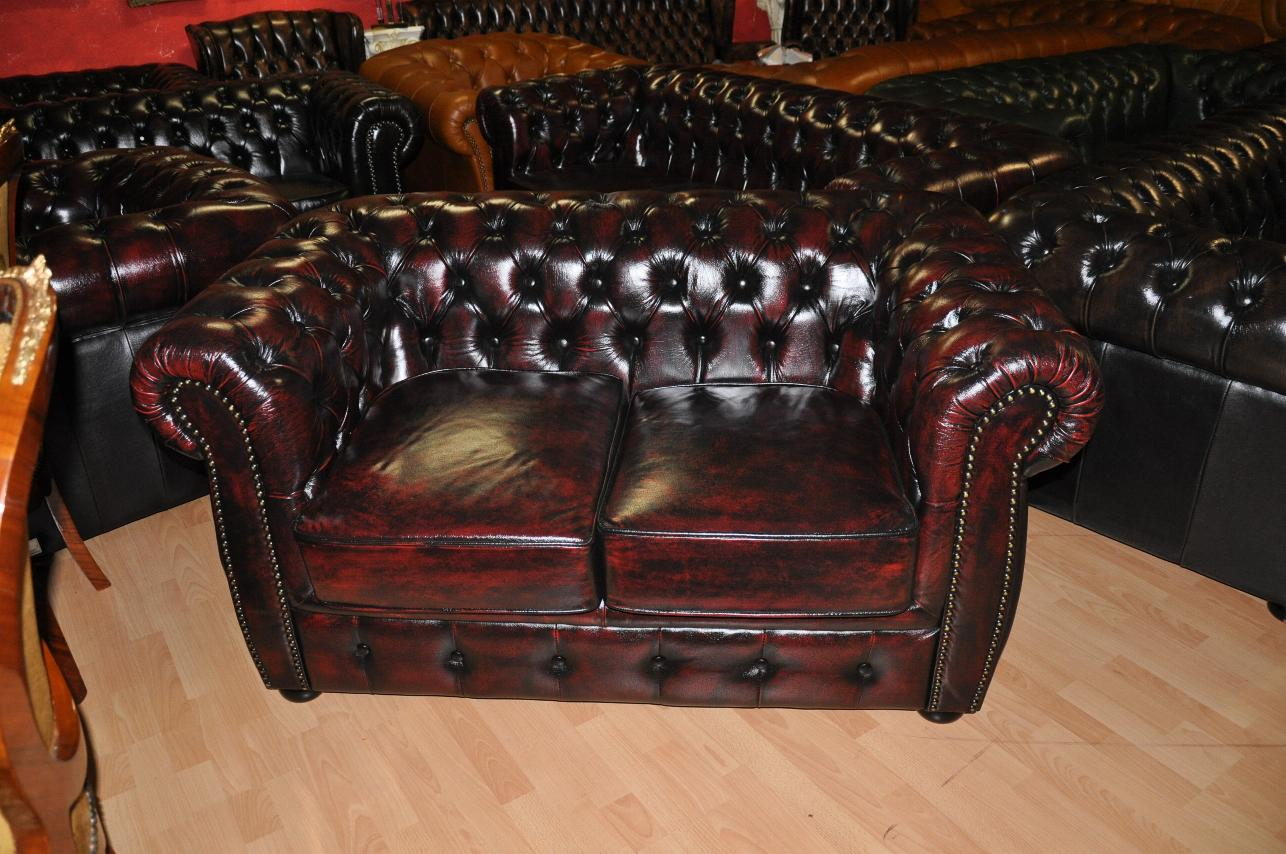 2er Sofa Chesterfield Stil Chesterfield Original Rochester Traditionell Liverpool