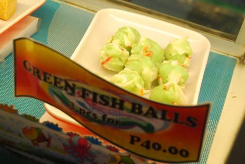 Green Fish Balls, Philippines food