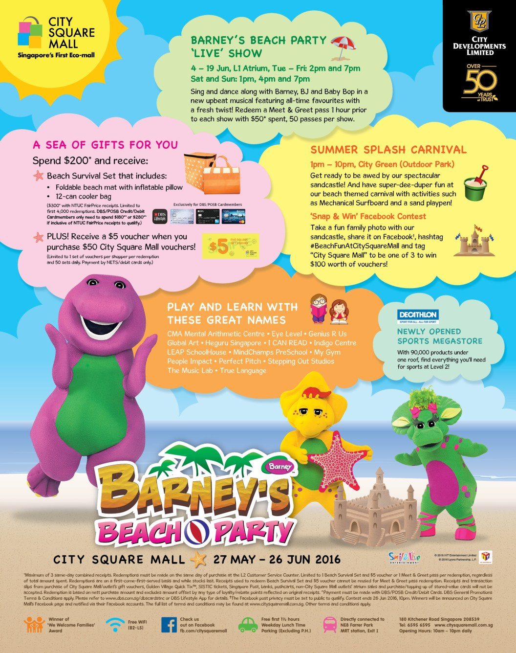 Barneys Beach Party At City Square Mall 27 May 26 June 2016