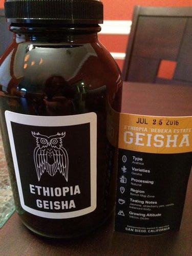 Review: James Coffee Company Ethiopia Geisha (San Diego, California)