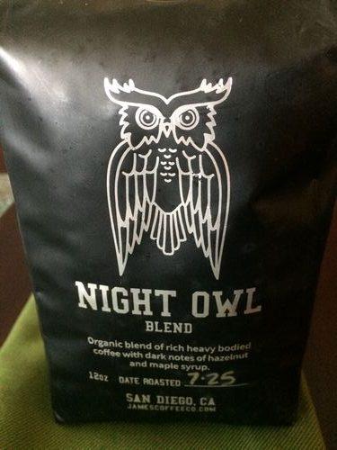 Review: James Coffee Company Night Owl Espresso Blend (San Diego, California)