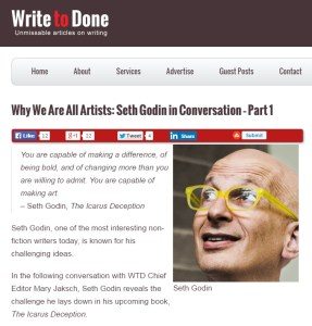 Why We Are All Artists Seth Godin in Conversation - Part 1  Write to Done