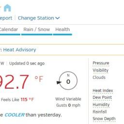 Another high Heat Advisory for Houston region