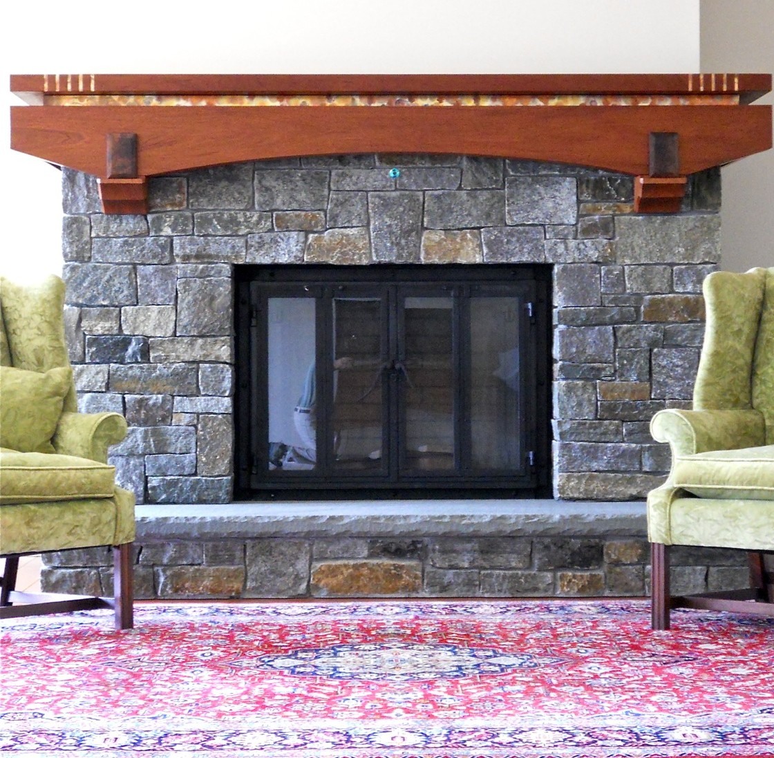 Copper Fireplace Mantel Wrap Around Mahogany Mantel With Copper Trim Charles Ogg Furniture