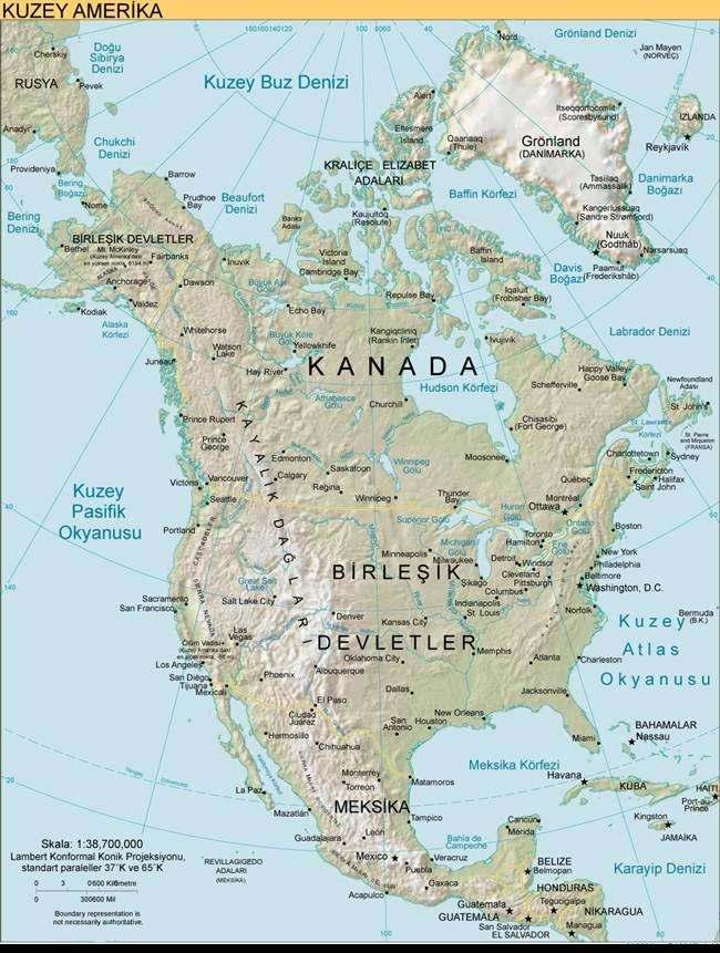 kuzey-amerika-kitasi-fiziki-haritasi Coğrafya Bilimi