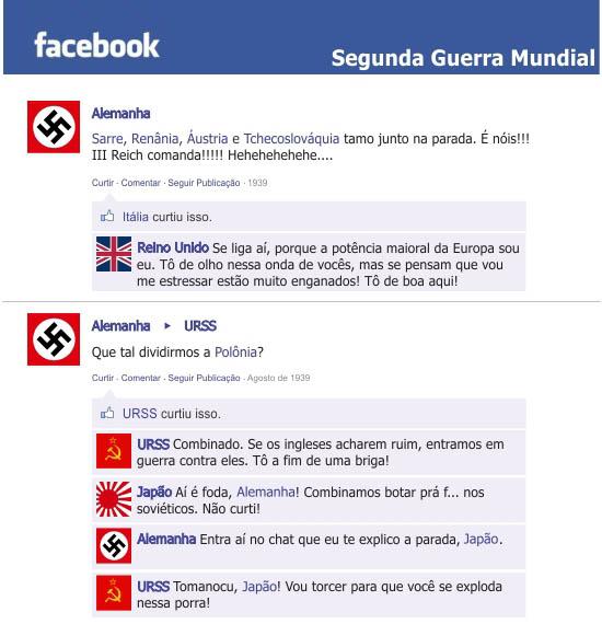 guerra1 E se a história da segunda guerra mundial fosse registrada no facebook?