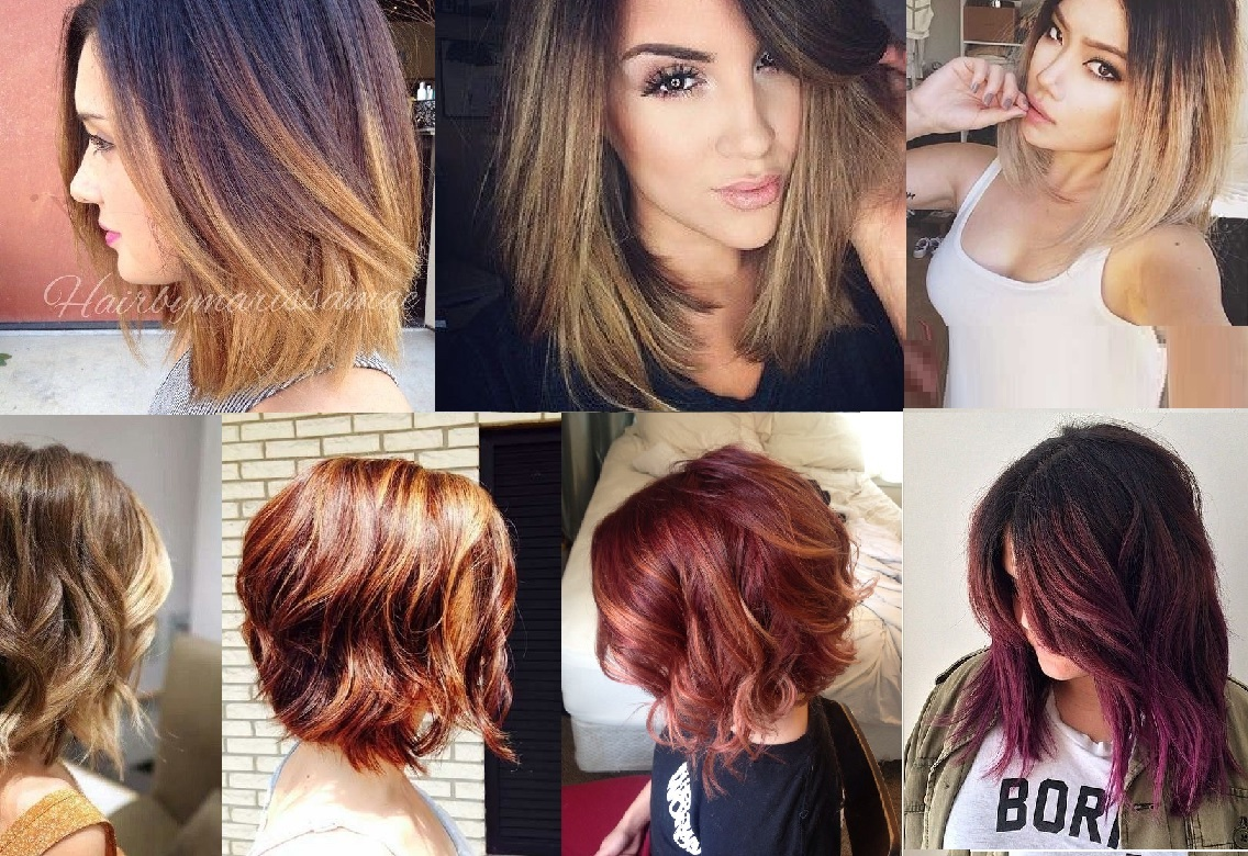Coiffure Mariage Simple Cheveux Courts Ombre Hair Cheveux Courts Tendance Automne 2017