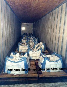 multi tons copper pennies