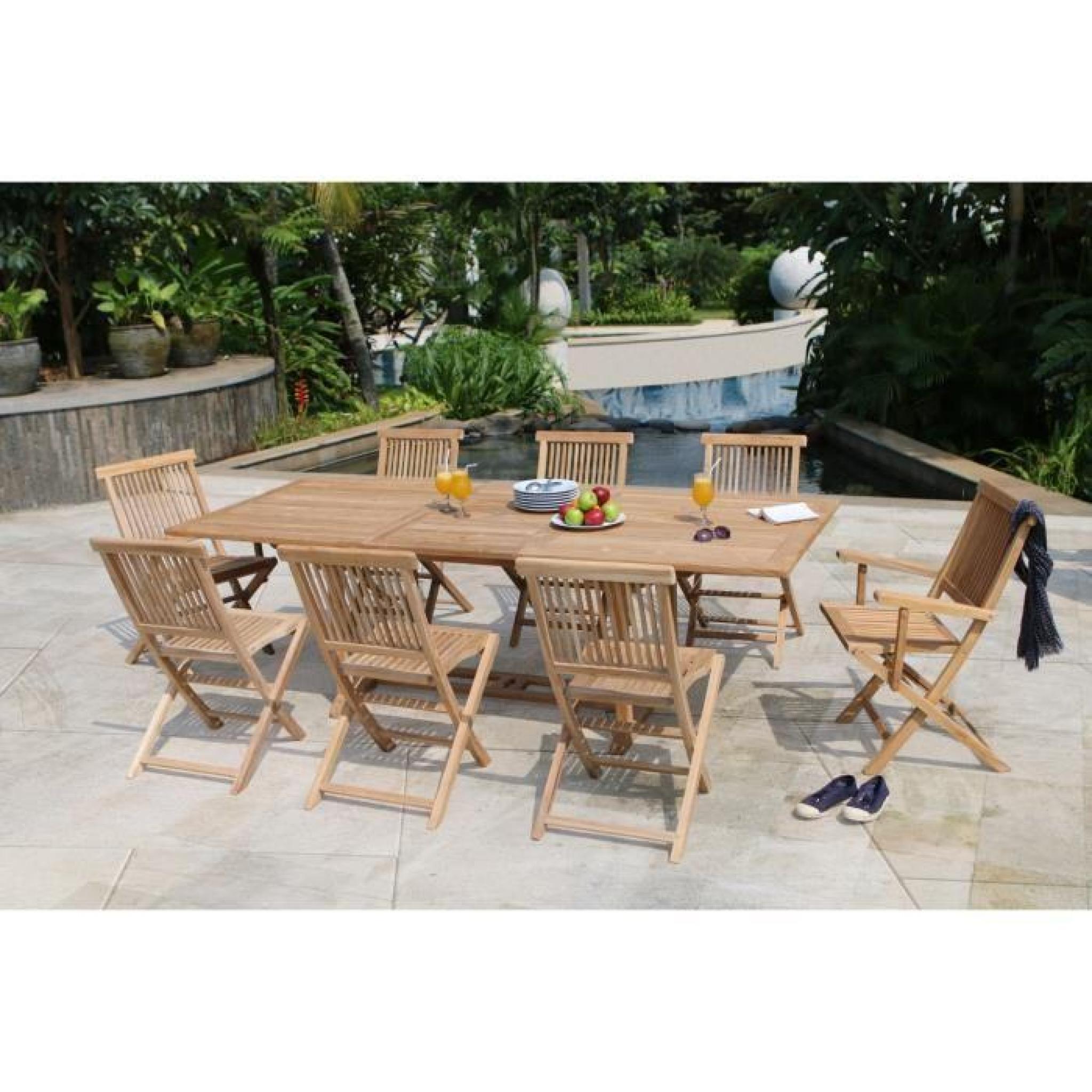 Table De Jardin Teck Massif   Best Salon De Jardin Table Ronde ...