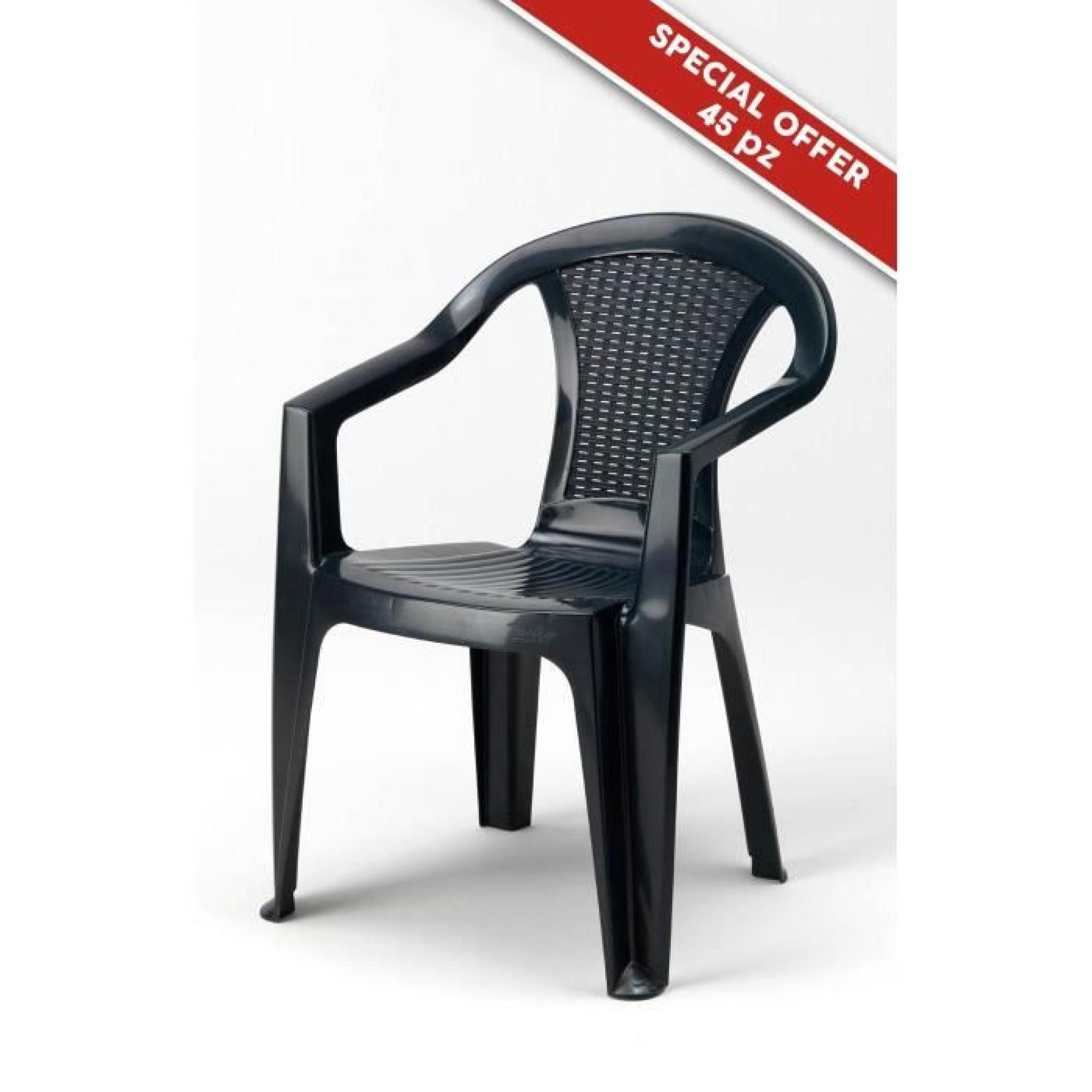 Chaises Anthracite Chaises Anthracite En Poly Rotin Plastique Resine