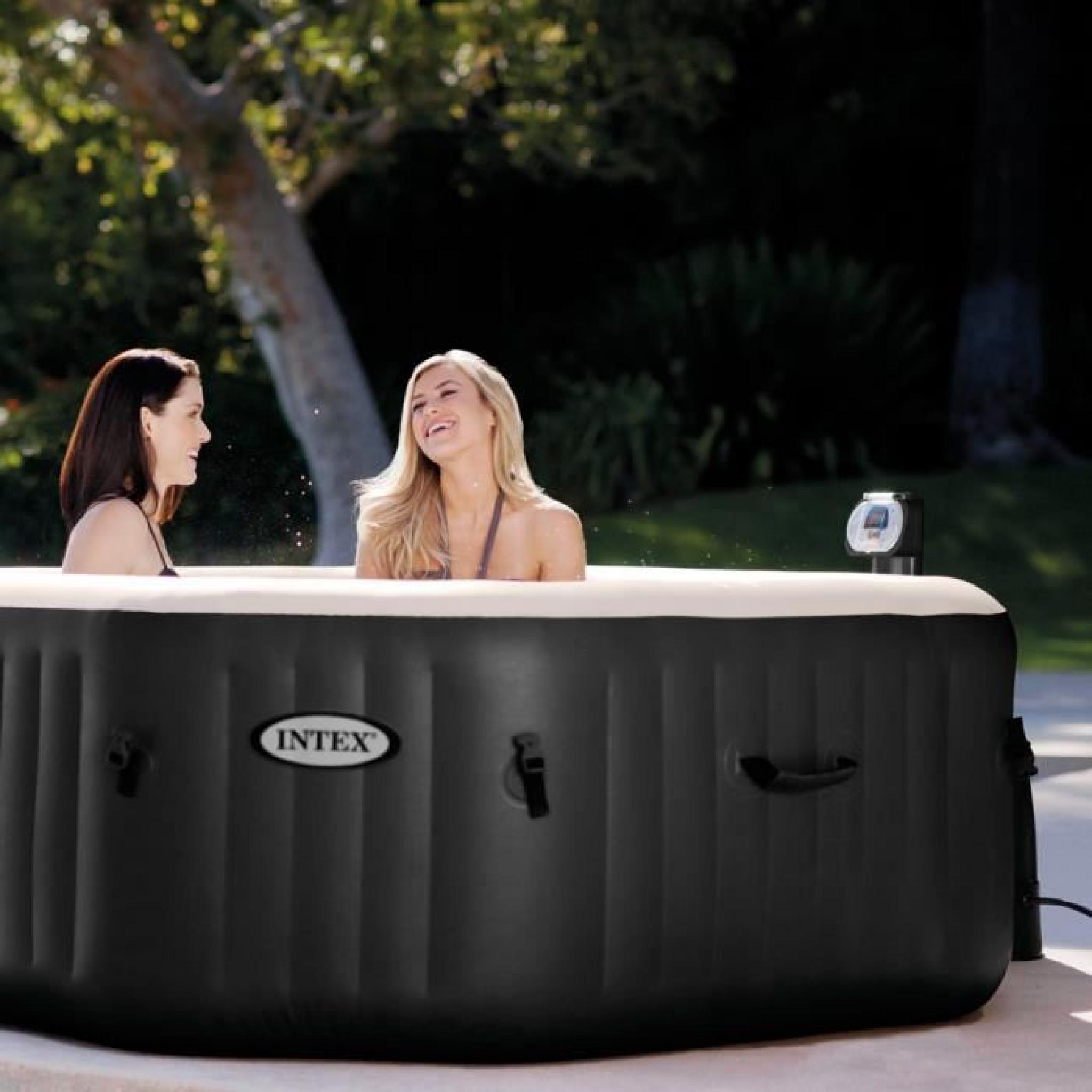 Acheter Jacuzzi Exterieur Intex 28454 Spa Gonflable Portable Exterieur Octagonal Jet Bubble Spa Generateur Chlore 201x71