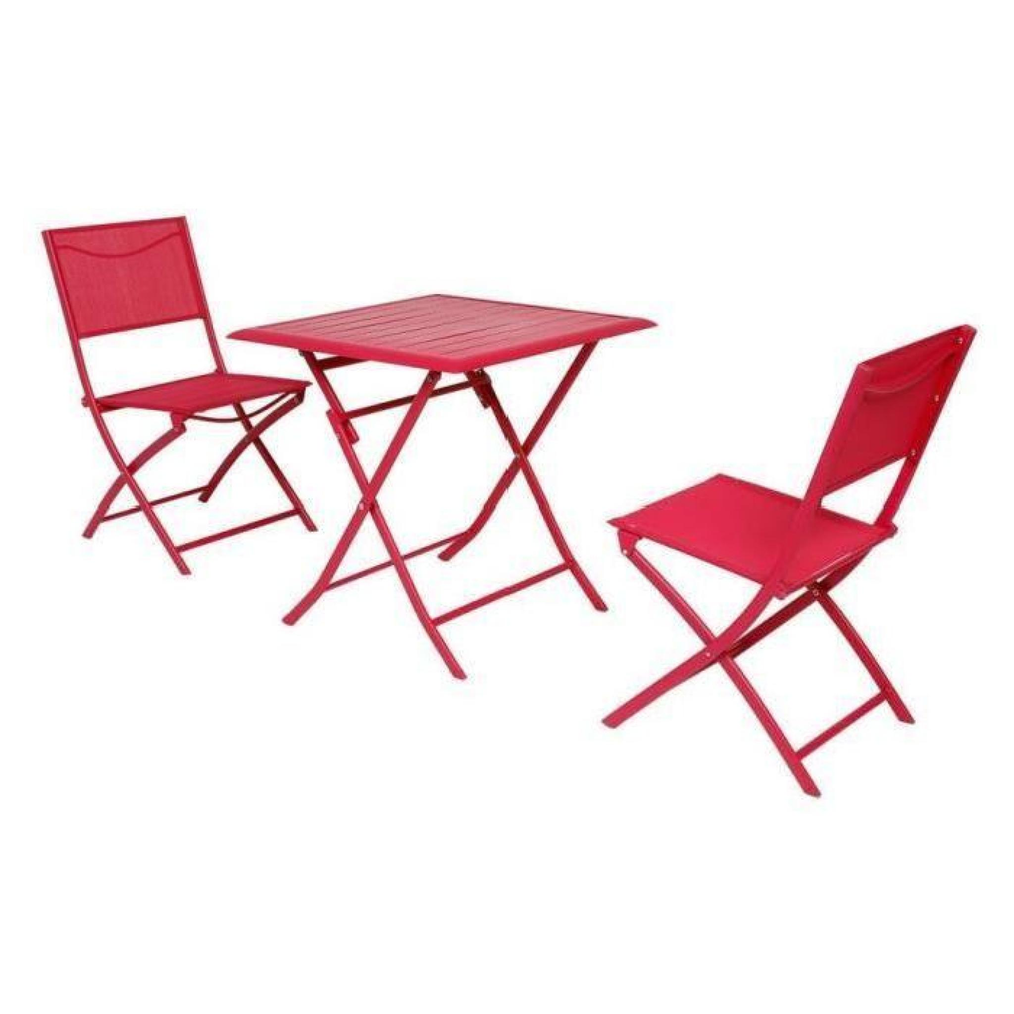 Table 2 Places Table Azua Hesperide Pliante Alu Cerise 2 Places Achat