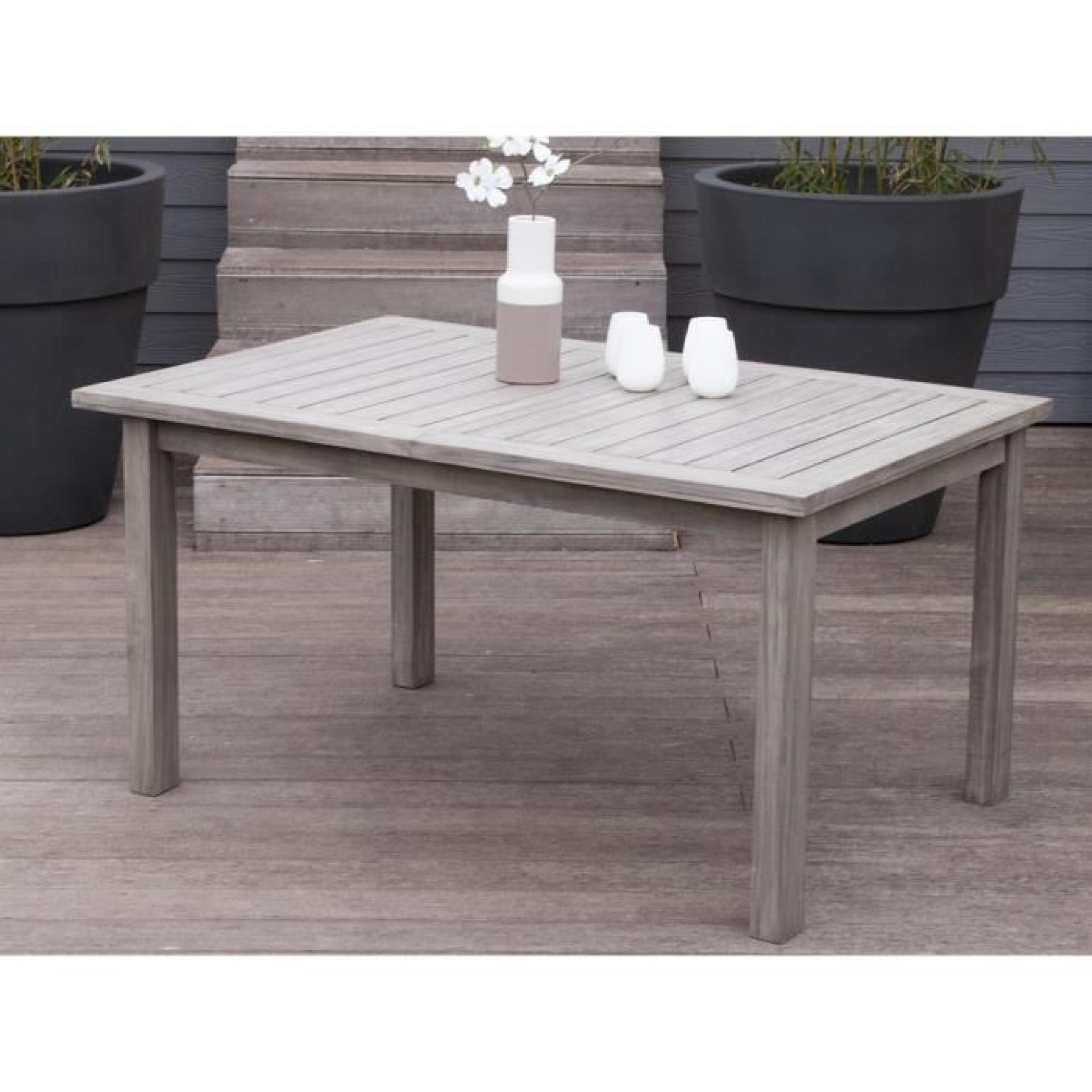 Table De Jardin Extensible Pas Cher Table De Jardin Extensible En Acacia 150 200x100cm Silverwood