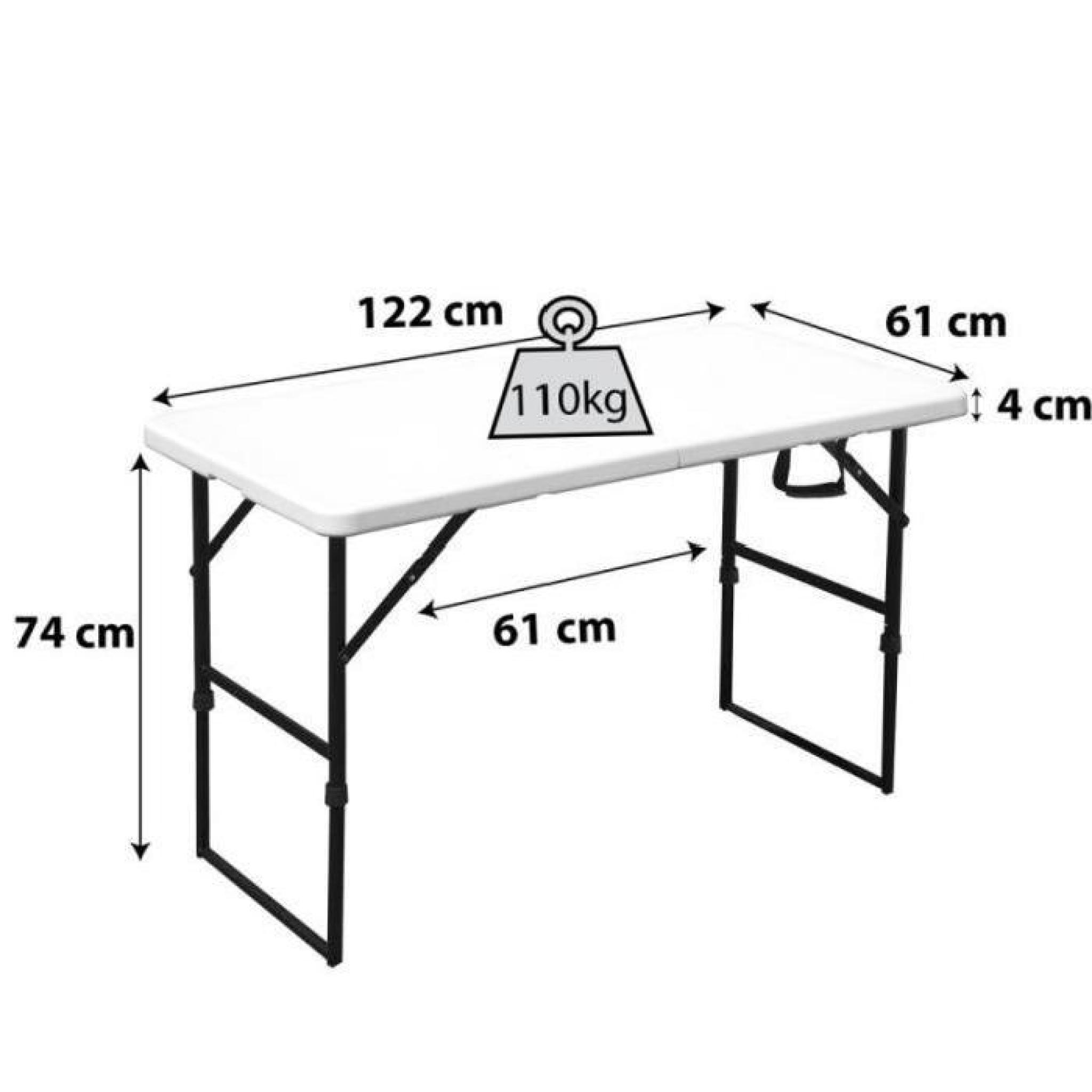 Table 4 Personnes Pas Cher Table Pliante Portable Camping 122 Cm