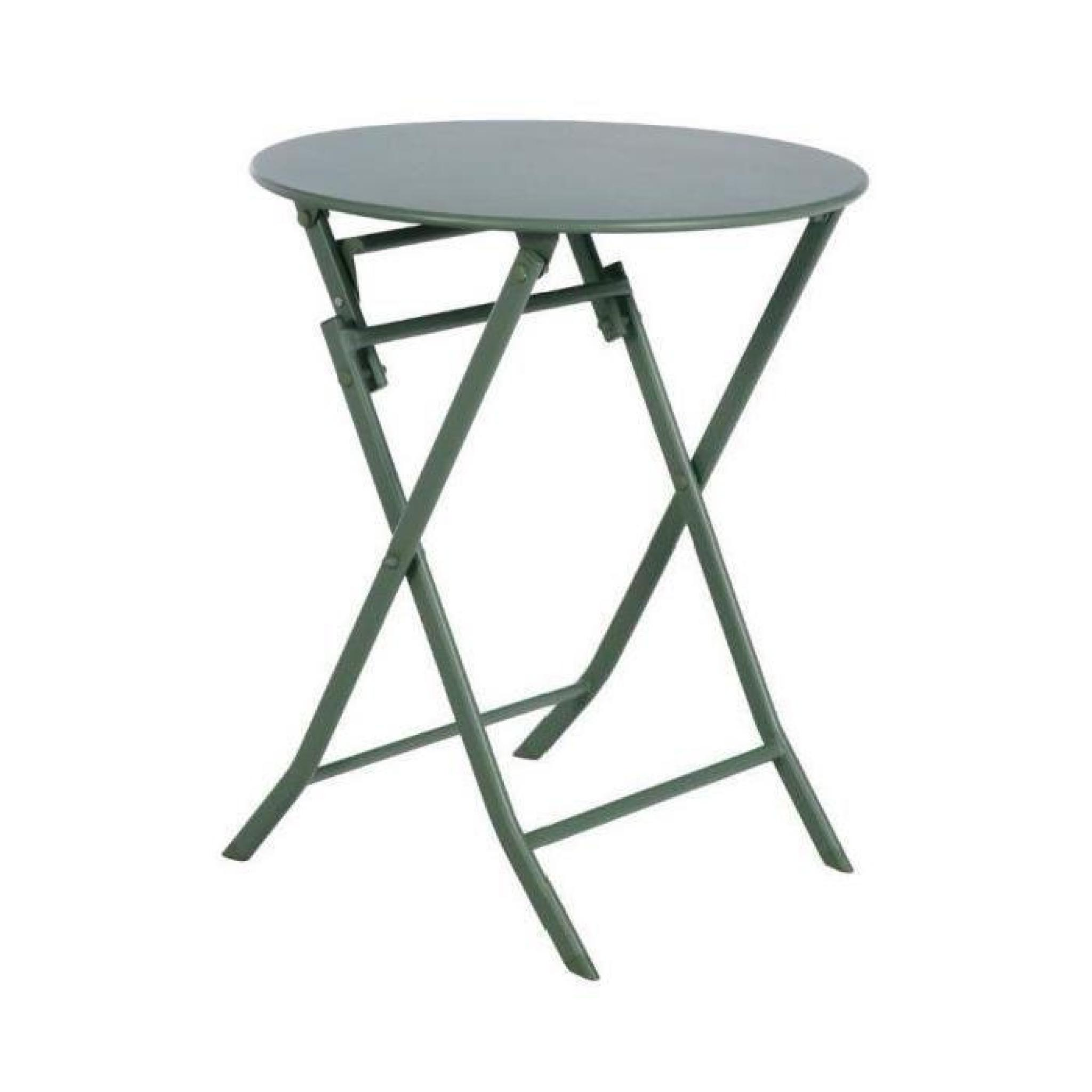 Table Pliante De Jardin Pas Cher Table Pliante Greensboro Hesperide Ronde Kaki