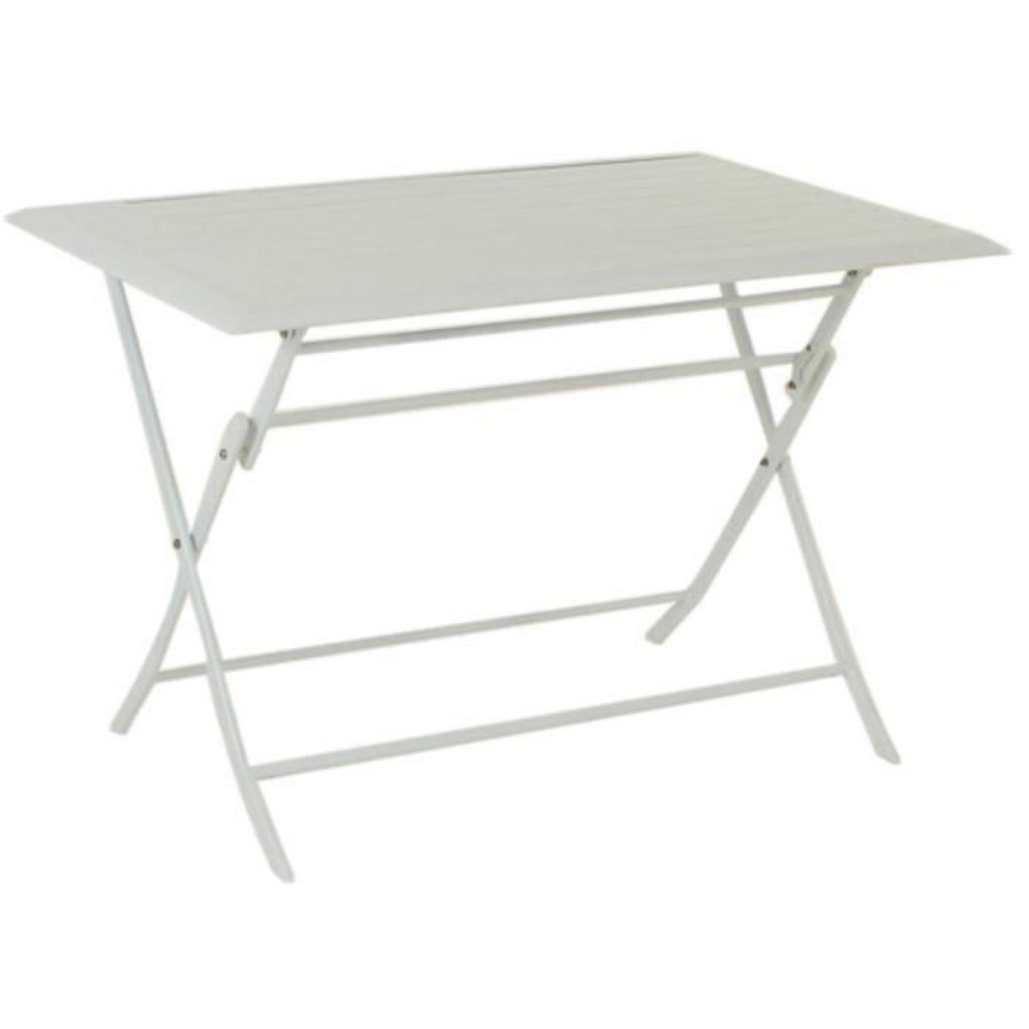 Table Aluminium Pliante Table Pliante Rectangulaire En Aluminium Coloris Blanc Dim L 110 X P 71 X H 71 Cm