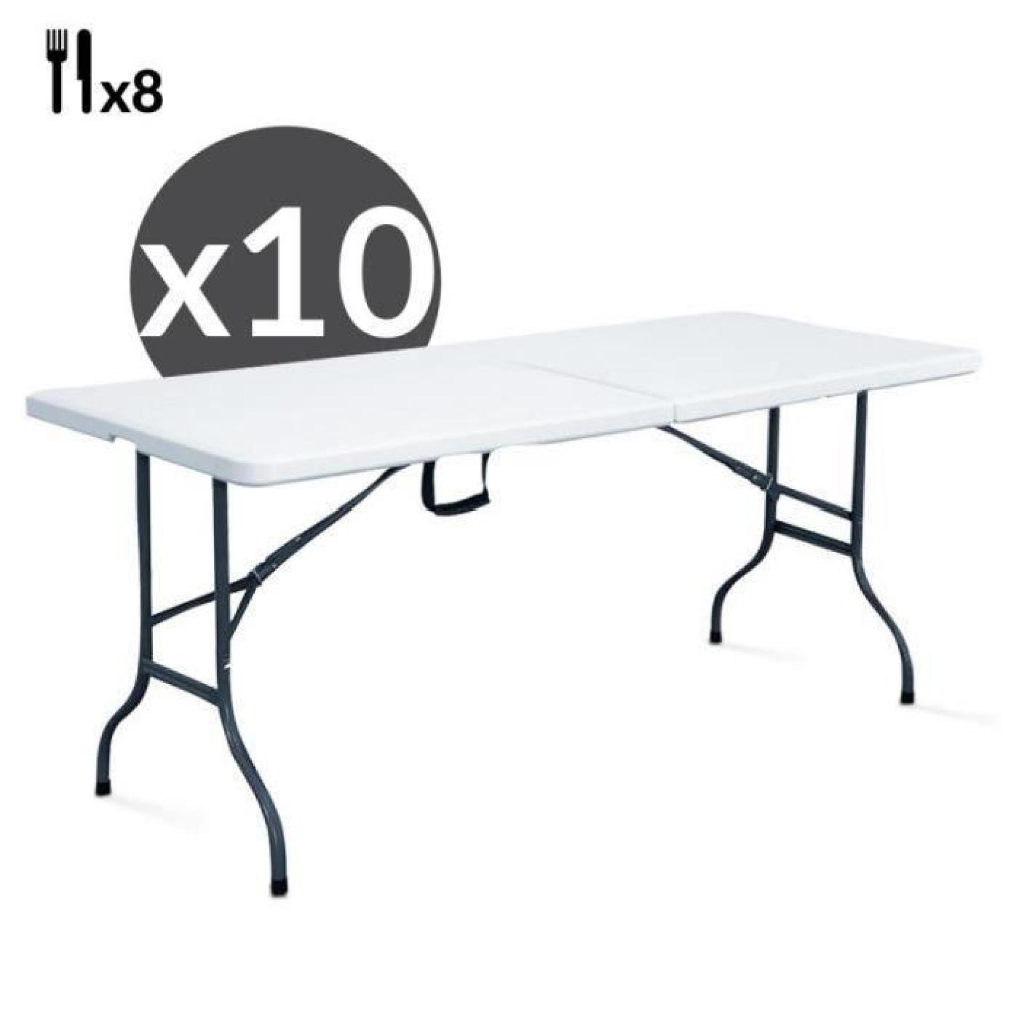 Table Pliante De Jardin Pas Cher Table Pliante Traiteur 180 Cm Lot De 10