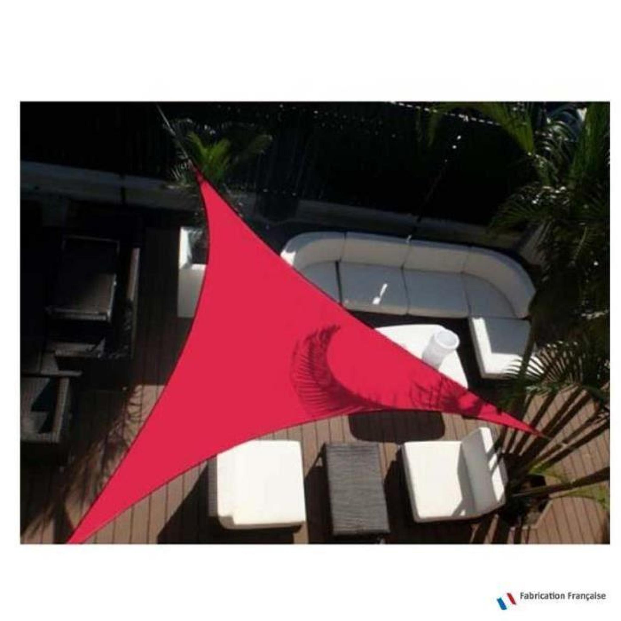 Voile D Ombrage Pas Cher Voile D 39ombrage Triangulaire 5 M Framboise Achat Vente