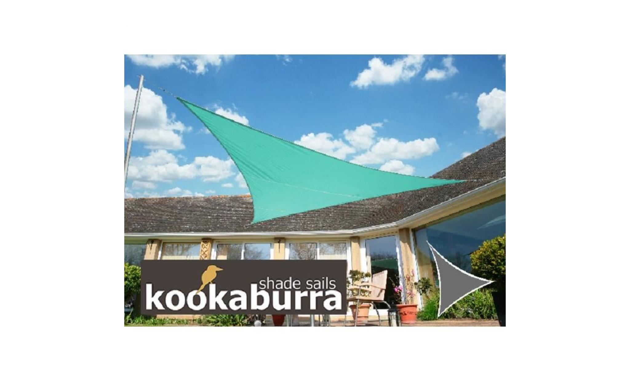 Voile D'ombrage Triangle Rectangle Voile D Ombrage Turquoise Triangle Rectangle 4 2m Imperméable 160g M2 Kookaburra