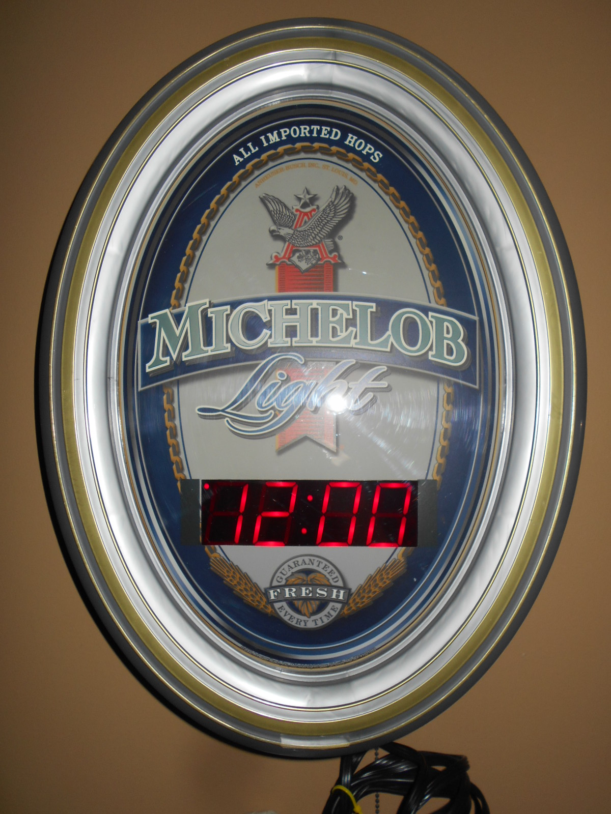 Digital Clock For Sale Michelob Light All Imported Hops Neon Digital Clock By