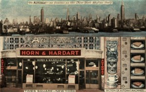 Automat in Times Square Postcard ca. 1939