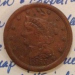 1853 Braided Hair Half Cent Obverse