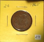 Bought this 1865 2¢ coin from my coin club's auction