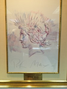 Drawing of Peace Dollar Liberty by Peter Max (1983)