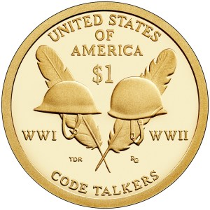 2016 Native American Dollar celebrates the contributions of the Native American Code Talkers in World War I and World War II